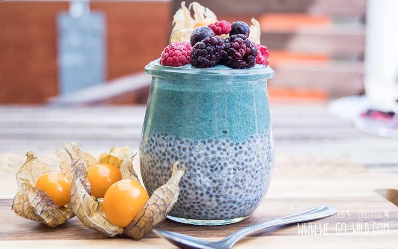 Frühstück ohne Kohlenhydrate - Chiapudding mit Früchten