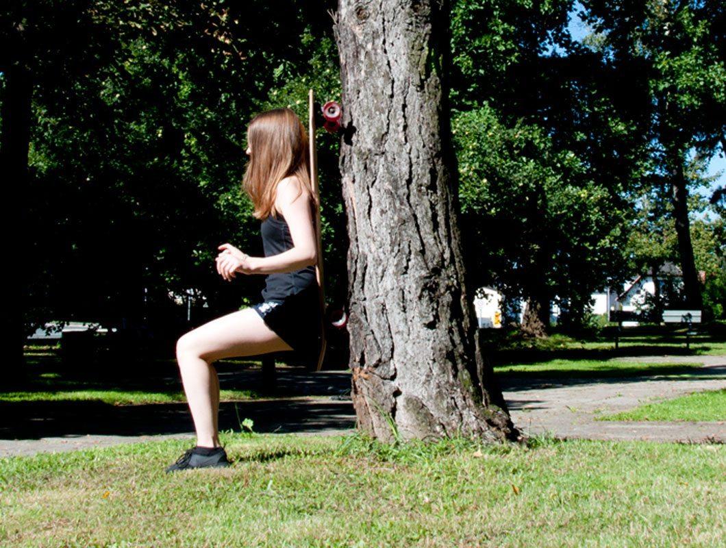 Longboard Übung für die Beine