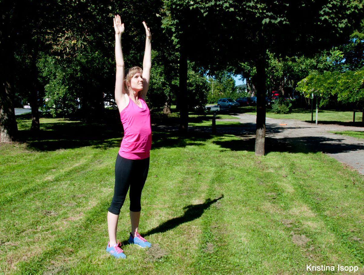 stretching übung