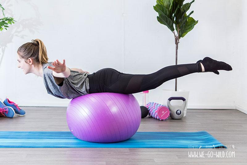 Übungen zum Abnehmen mit dem Ball