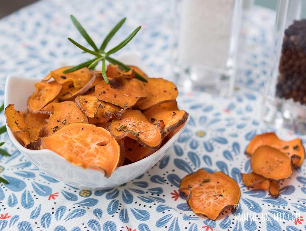 süßkartoffel chips im ofen selber machen