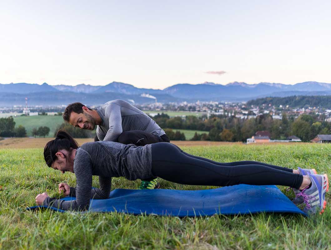 Skisaison Workout Plank