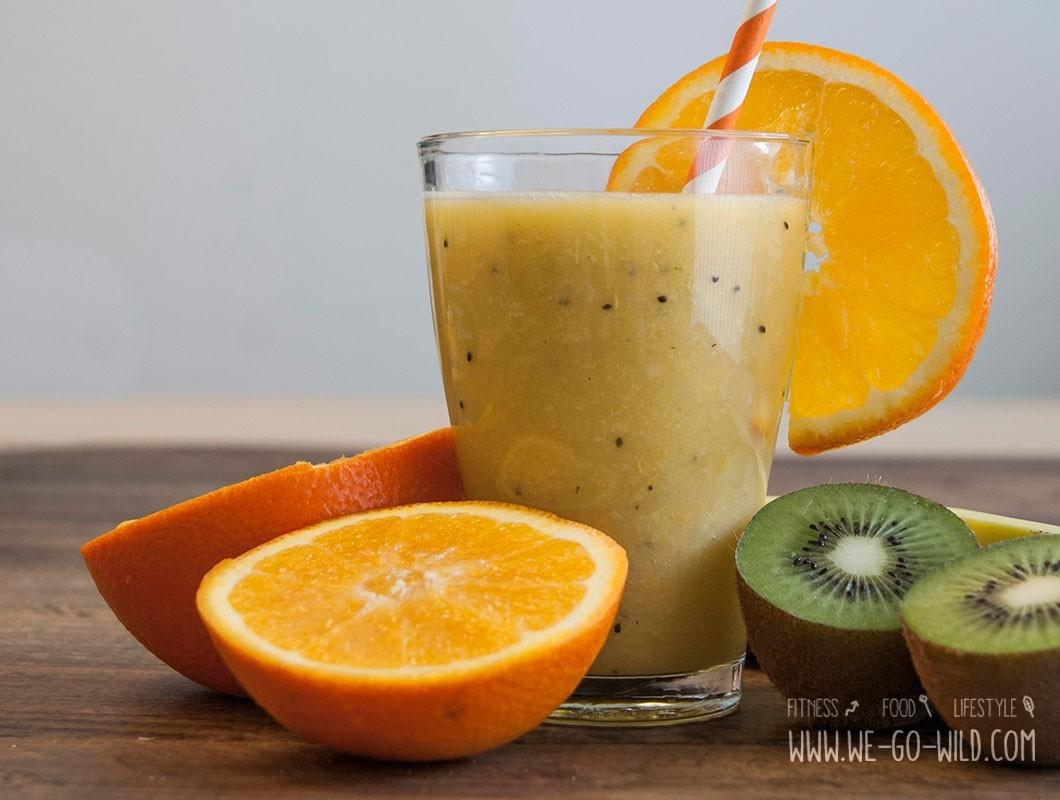 kiwi smoothie mit orange