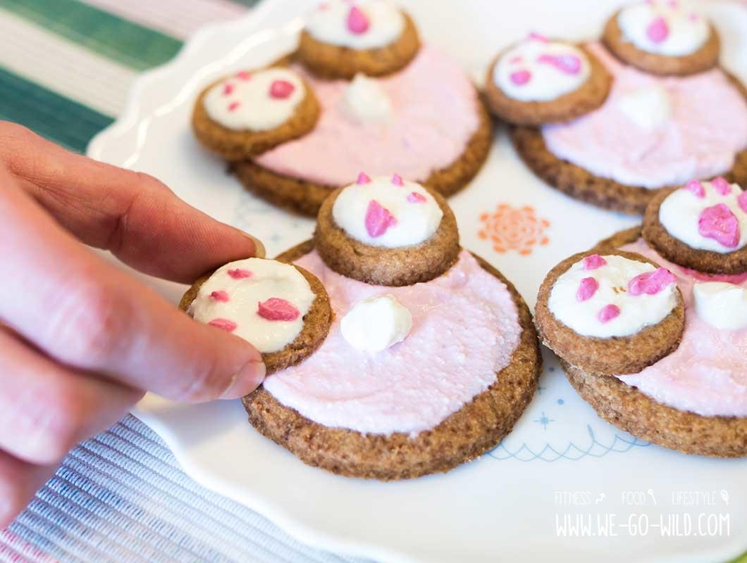 Osterbrunch Rezepte: Kekse mit Vollkornmehl und ohne Zucker