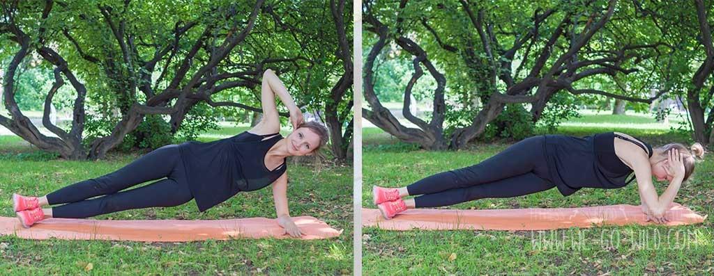 Bauch Training ohne Geräte