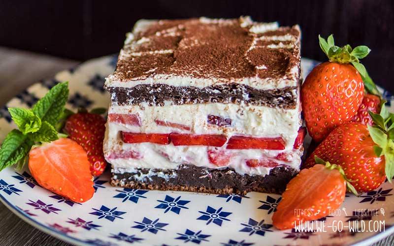 High Protein Tiramisu Mit Quark Und Erdbeeren