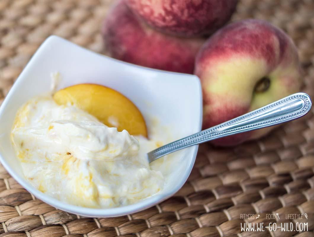 Frozen Joghurt Rezepte mit Pfirsich