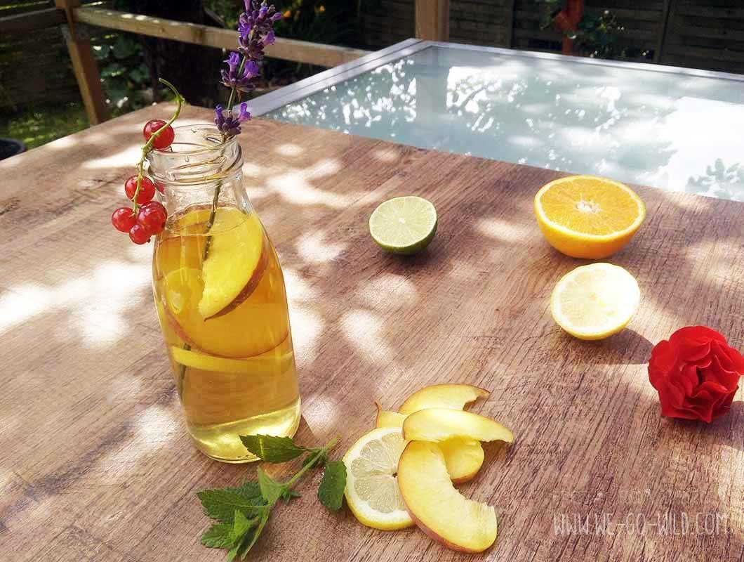Eistee selber machen Rezept mit Pfirsich