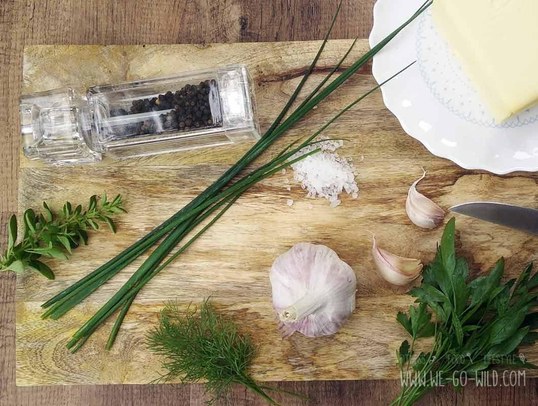 Rezept für selbstgemachte Kräuterbutter