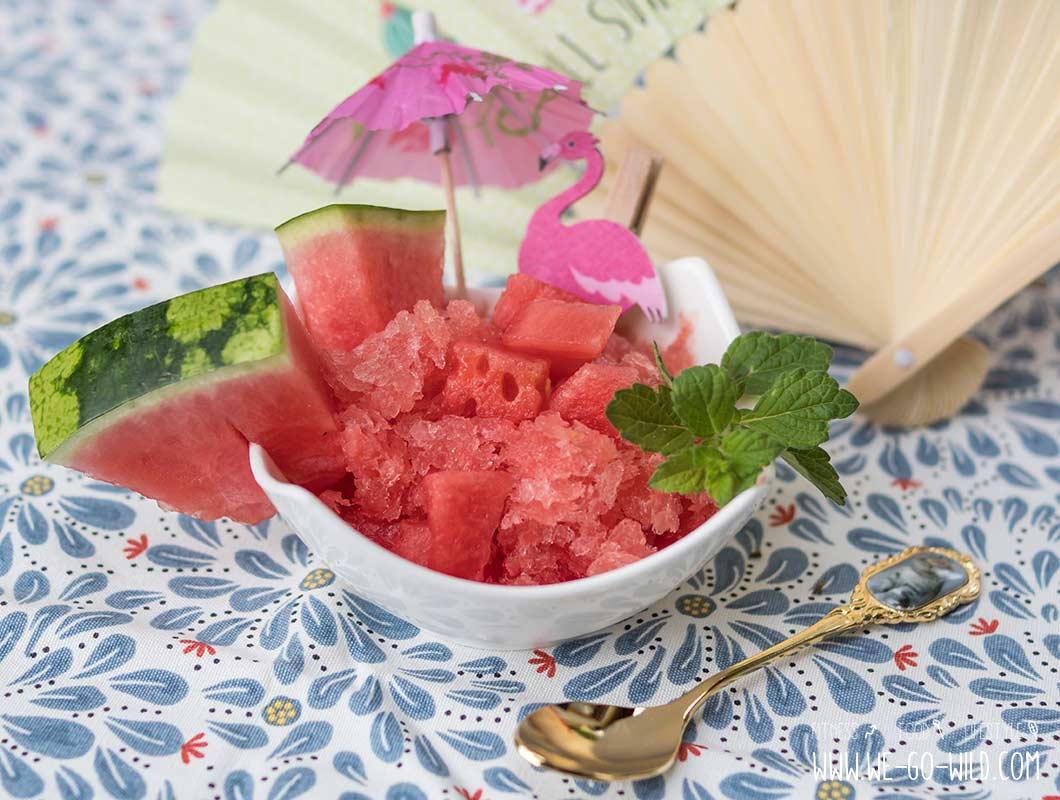 Sorbet selber machen mit Wassermelone