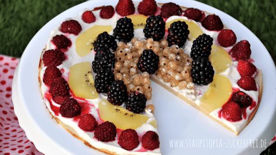 Low Carb Kuchen Früchtepizza
