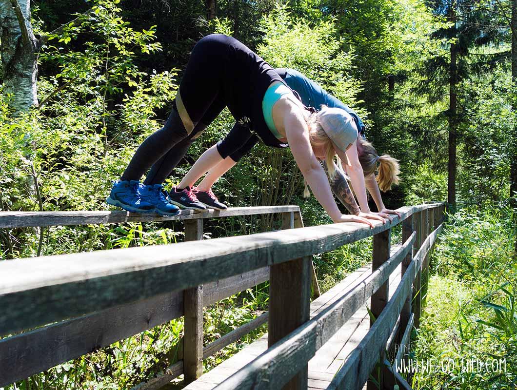 Yoga Stellung Herabschauender Hund Outdoor Workout