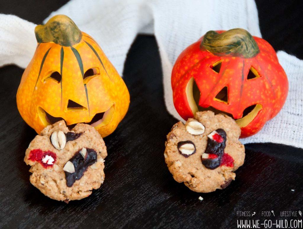 Halloween Kekse mit Chia und Hafer