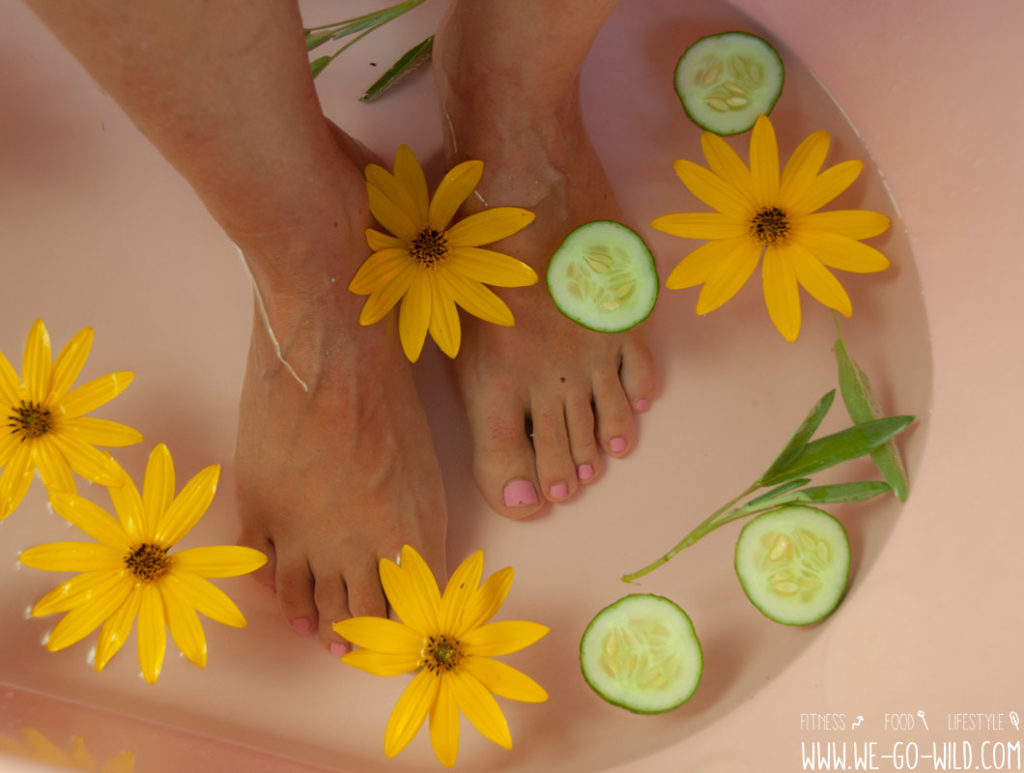 Fußbad gegen Kopfschmerzen