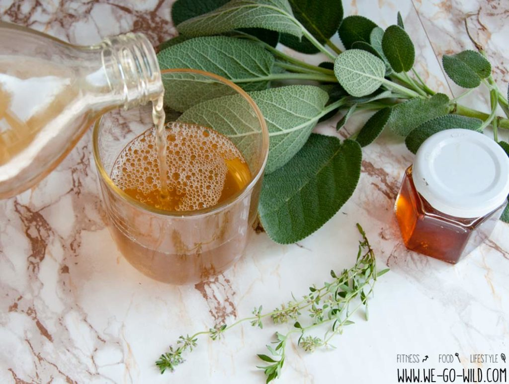 Hustensaft selber machen mit Thymian, Salbei und Honig