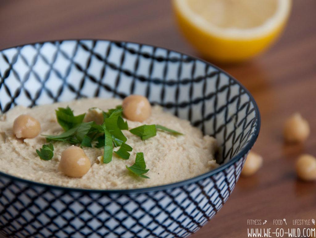Hummus selber machen Kichererbsen Dip