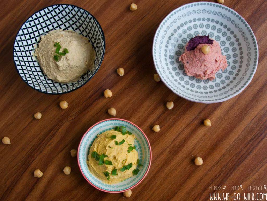 Hummus selber machen mit Kurkuma und Rote Beete