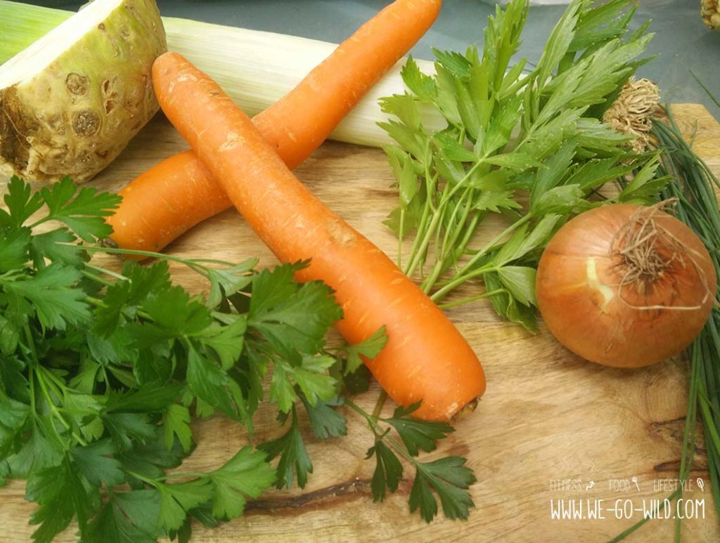 Zutaten für Instant Gemüsebrühe selber machen