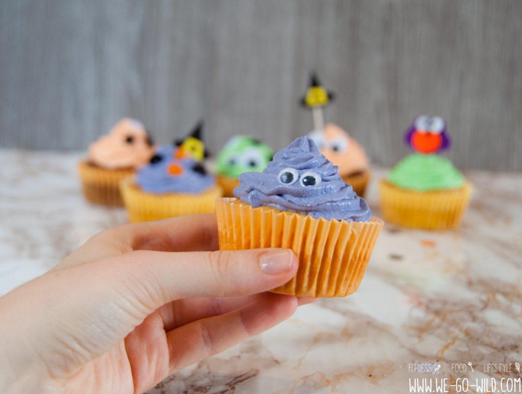 Halloween Cupakes mit Augen