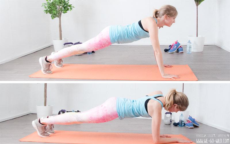 Übungen mit dem eigenen Körpergewicht: Plank up