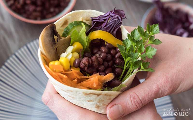 Wraps ohne Fleisch (vegan)