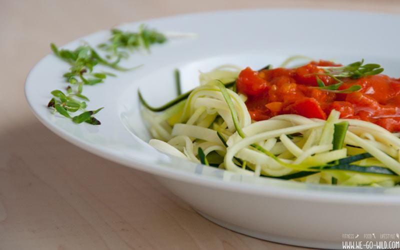 Flacher Bauch & Ernährung: Gemüsenudeln statt Pasta