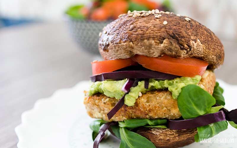 Portobello Pilz Burger vegetarisch