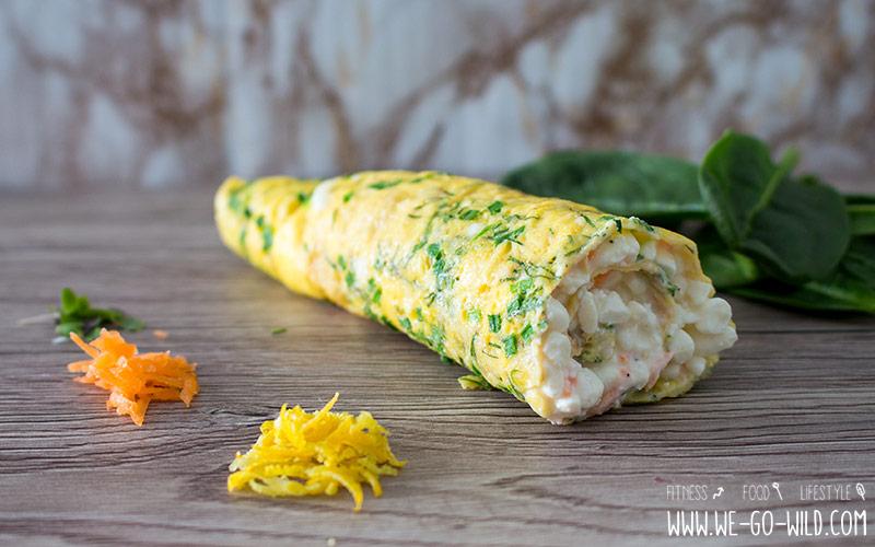 Frühstück ohne Kohlenhydrate - Kräuteromelette