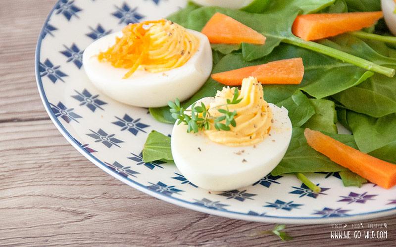 Osterbrunch Rezepte: Gefüllte Eier als Idee fürs Osterfrühstück