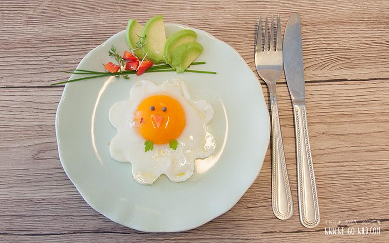 Rezepte für den Osterbrunch: Ein Spiegelei als Idee fürs Osterfrühstück