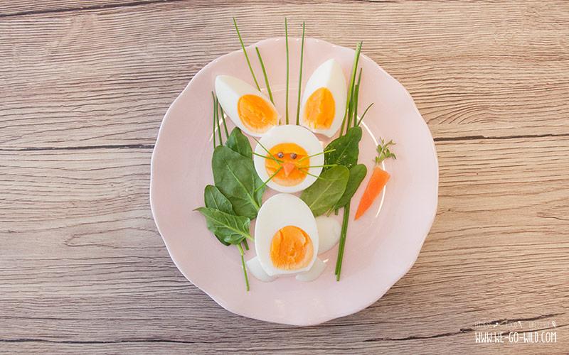 Osterbrunch Rezepte: Ein Häschen aus Eiern fürs Osterfrühstück