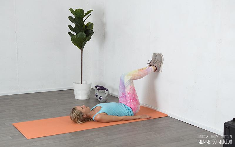 Lendenwirbel Übung für einen verspannten Rücken