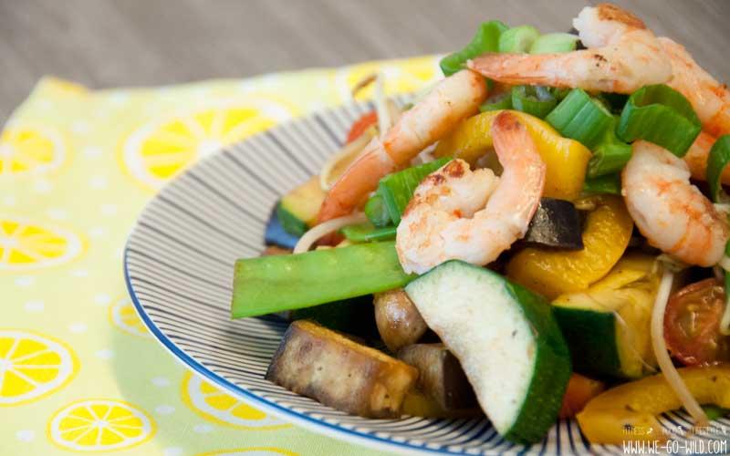 Abnehmen Tipps - kalorienarme Gemüsepfanne