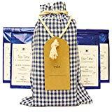 Teegeschenk in Stoffbeutel mit Namensanhänger - 5 ausgewählte Teesorten als Geschenkidee