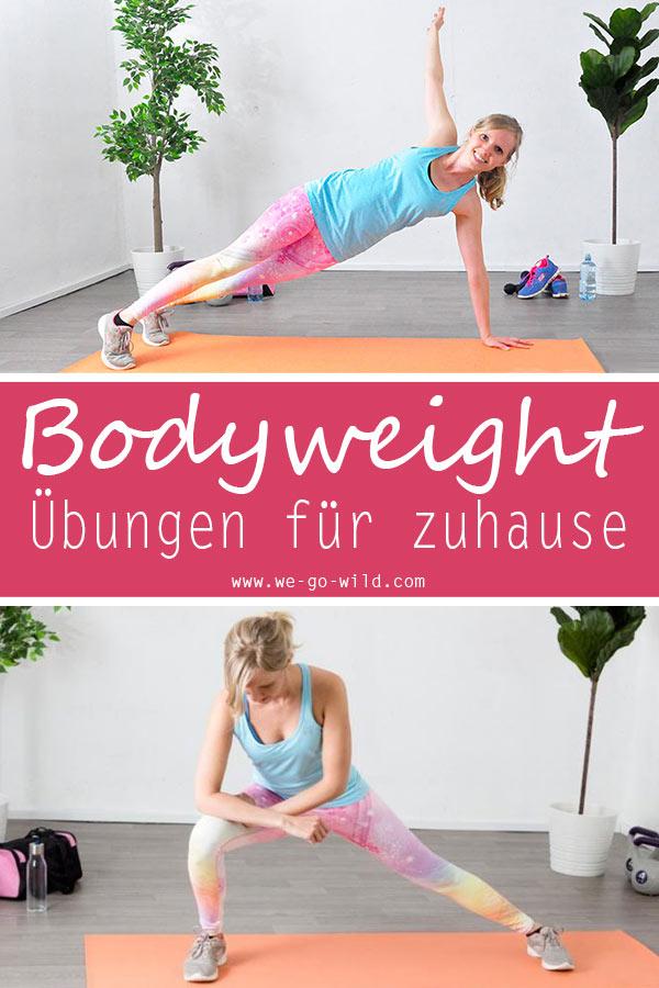 Bodyweight Übungen fürs Training mit dem eigenen Körpergewicht