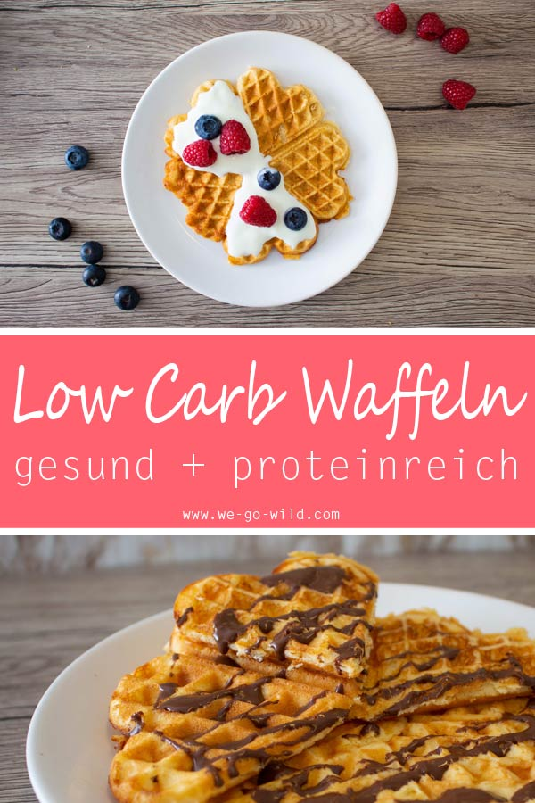 1x low carb waffeln mit mandelmehl und 1x mit proteinpulver. Black Bedroom Furniture Sets. Home Design Ideas