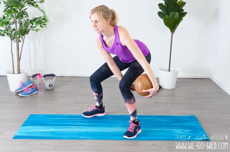 Medizinball Übungen Beine