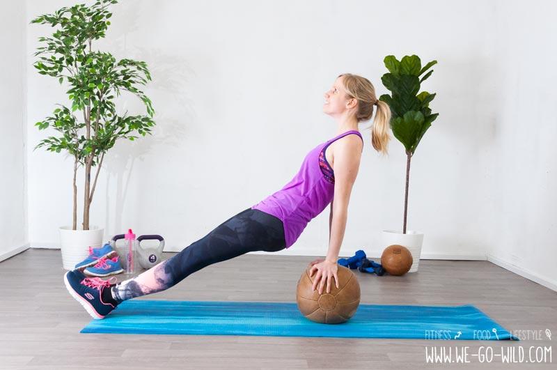 Medizinball Übungen Arme