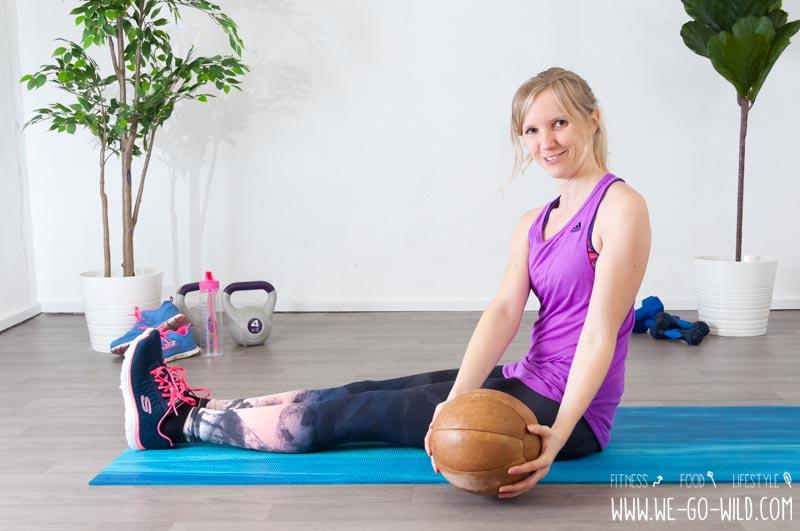 Medizinball Übungen Rumpfrotation