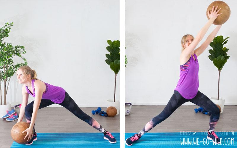 Medizinball Übungen Bauch Beine Po