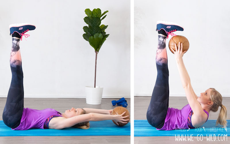 Medizinball Übungen Bauch