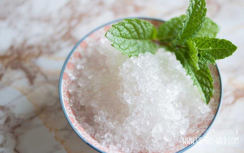 Salz zum Peeling selber machen