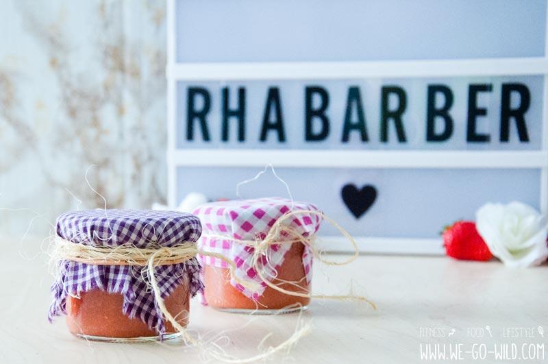 Rhabarber Marmelade ohne Zucker