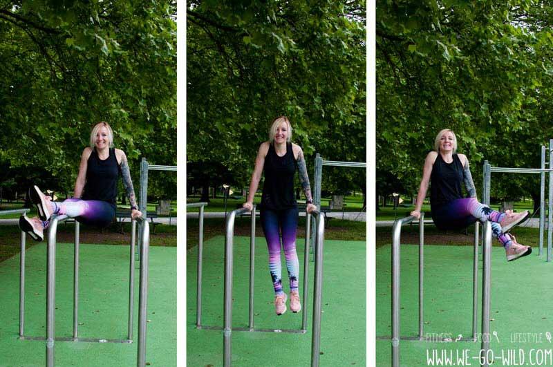 Übungen für Calisthenics Frauen mit Barren
