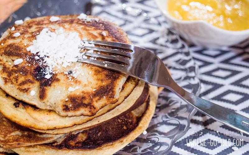 Frühstück ohne Kohlenhydrate - Pancakes mit Kokosmehl