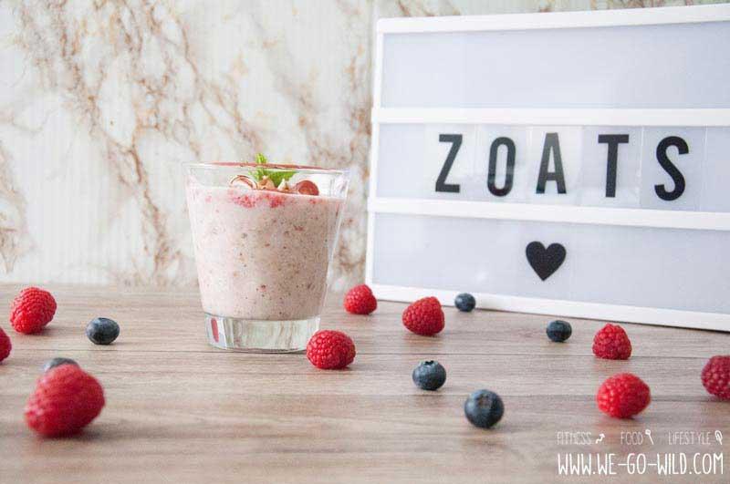 Porridge Rezepte mit Beeren - Zoats Zucchini Haferflockenbrei