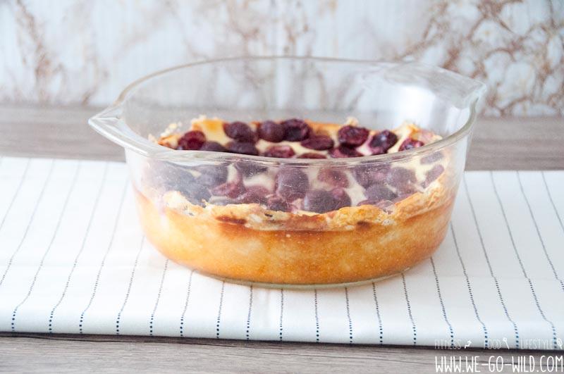 Low Carb Quarkauflauf Mit Kirschen Und Vanille