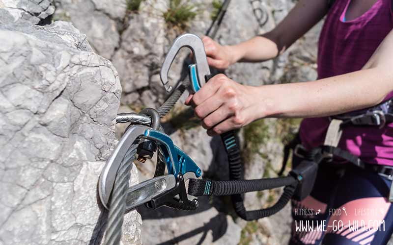 Klettersteig Anfänger Karabiner Tipps