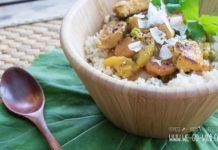 Hähnchen Curry mit Kokosmilch und Zucchini