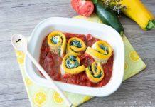Zucchini Cannelloni Low Carb vegetarisch mit Spinat